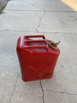 Vintage Distressed Red Military Style Metal Jerry Gas Can Jeep for Sale in Thornton, CO
