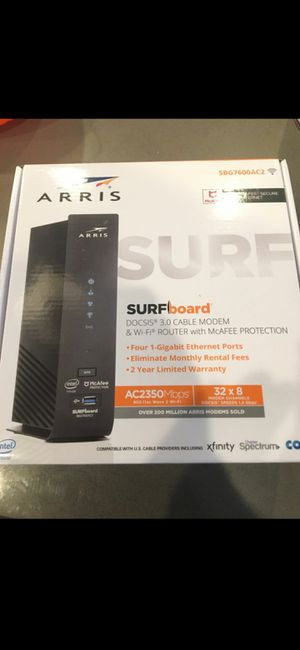 SBG7600ac2 ARRIS SURFBOARD CABLE MODEM AND ROUTER for Sale in Stockton, CA