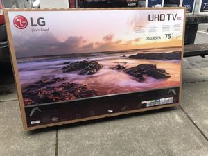 """75"""" LG 75UJ657A 4K UHD HDR LED SMART TV 2160P (FREE DELIVERY) for Sale in Lakewood, WA"""