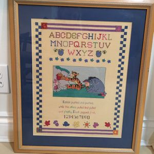 Needlepoint Framed Wall Hanging for Sale in Weston, FL