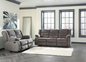 NEW, Reclining Sofa and Loveseat, Gray, SKU# 98606 for Sale in Westminster, CA