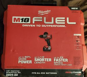 Milwaukee 2804-22 M18 FUEL 1/2 in. Hammer Drill $250 for Sale in Wantagh, NY