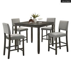 **KEEPER** COUNTER GRAY TABLE SET 1 TABLE+4 CHAIRS 2708GY for Sale in Orange,  CA