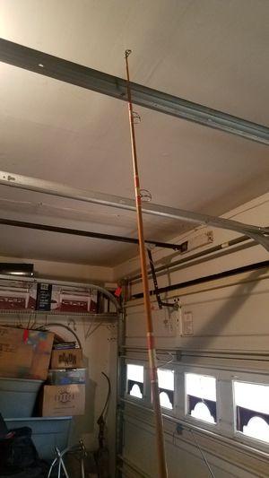 7ft Vintage Wooden Fishing Rod w/ Blue Runner Reel for Sale in Virginia Beach, VA