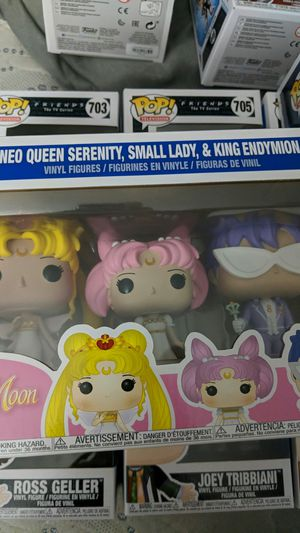 Sailor Moon Serenity, Small Lady, and Endymion Pops for Sale in San Diego, CA