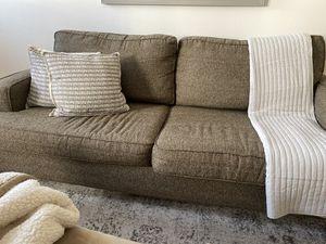 Brown Tweed Sleeper sofa for Sale in Washington, DC