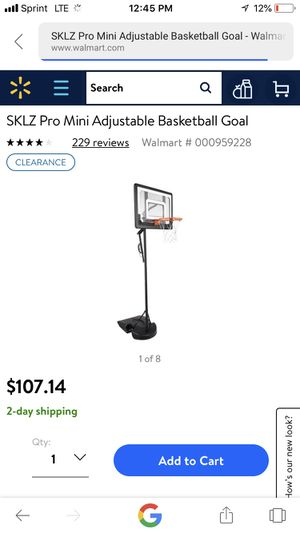 Brand new indoor outdoor basketball hoop( sklz pro mini hoop system) for Sale in Rockville, MD