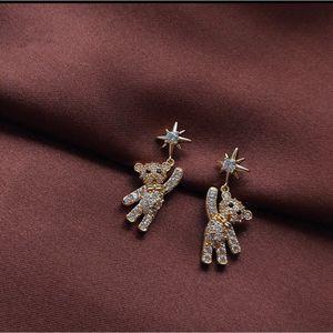 Rhinestone bear drop dangling diamond earrings for Sale in Houston, TX