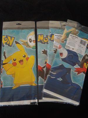 3 New Pokemon Tablecover for Sale in El Cajon, CA