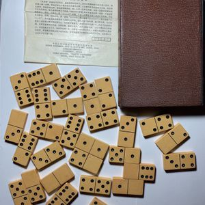 Rare Antique Imported Dominoes Set w/ 'book case' for Sale in Cedar Park, TX
