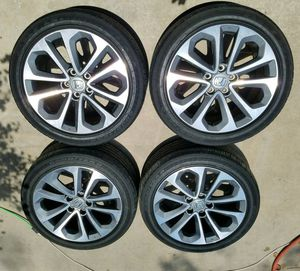 5 Honda accord sport wheels rims n tires 18inch for Sale in Kissimmee, FL