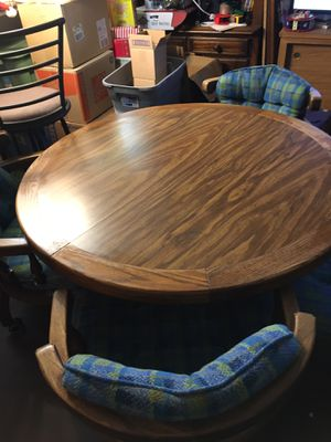 Solid Oak Table and Four Chairs for Sale in Edgewood, WA
