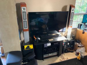"""55"""" Samsung Smart TV and stand for Sale in San Diego, CA"""