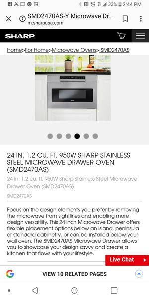 Sharp microwave drawer for Sale in Detroit, MI