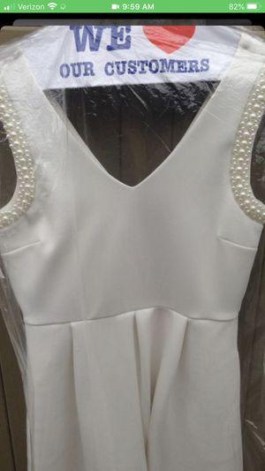 Knee Length White Prom/Wedding Dress w/pockets for Sale in Auburn, WA