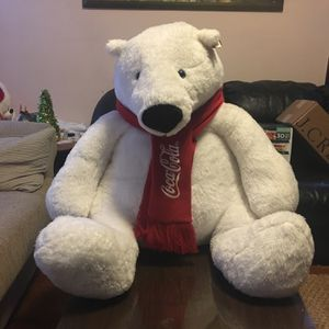"30"" Coca Cola Stuffed Polar Bear for Sale in Watertown, MA"