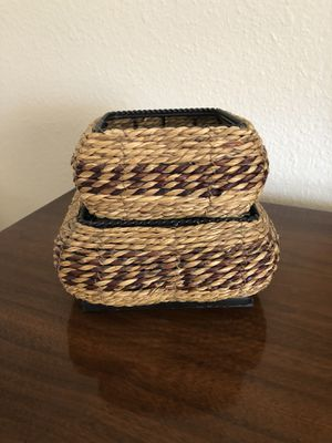 """Metal Framed Stacking Baskets - 3.5"""" Tall (Ahwatukee) for Sale in Phoenix, AZ"""