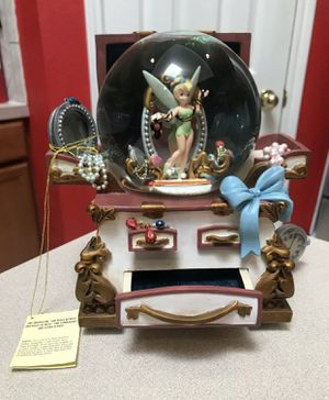 Disney Store Tinkerbell Hidden Treasure Chest Musical SnowGlobe for Sale in Fort Worth, TX