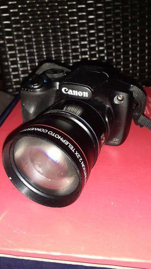 Canon Full HD 50x optical zoom High definition 2.2X Telephoto converter Japan optics lens Vivitar HD4 MC AF for Sale in Richmond, VA