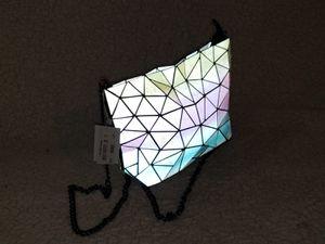 Women Handbags Geometric Luminous tote Bag PU Leather Shard Lattice Holographic Purse Ladies Shoulder Bag for Sale in Miami, FL