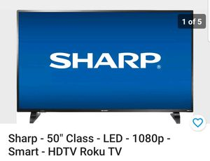 50 inch sharp smart roku TV new... for Sale in East Los Angeles, CA