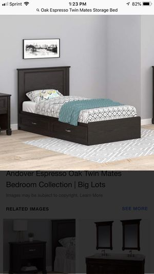 Oak express o twin mates storage bed new in box no head board included. for Sale in Jessup, MD