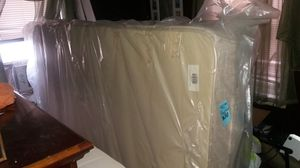 Brand new queen size mattress and split box spring never used for Sale in Philadelphia, PA