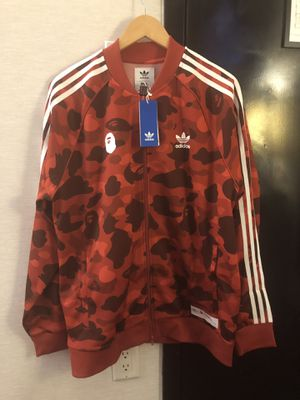 BAPE x Adidas adicolor Track Top Raw Red for Sale in Herndon, VA