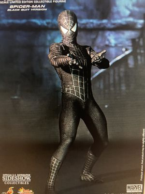Hot toys black symbiotic suit spiderman Figure mms165 for Sale in Queens, NY