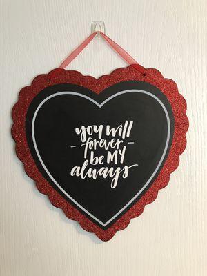Handmade Valentines Day Sign for Sale in Shepherdstown, WV