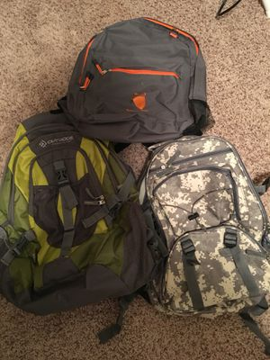 Backpacks all 3 included for Sale in St. Louis, MO