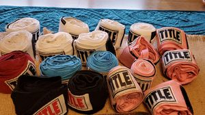 Boxing Gloves, 18 various velcro hand and wrist wraps for boxing for Sale in Greenville, SC