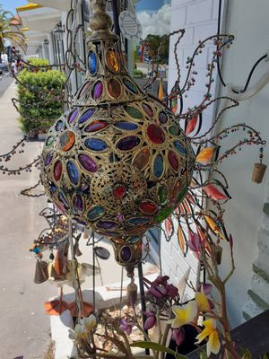 Really nice metal embellished Moroccan style hanging lamp for Sale in Dunedin, FL