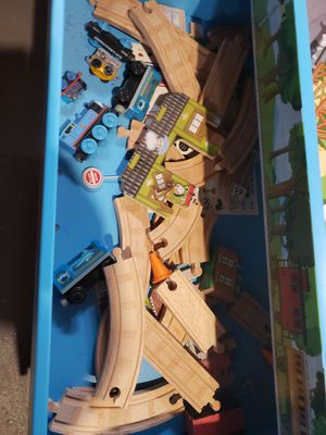 Thomas the train table, trains, and tracks. for Sale in Warwick, RI