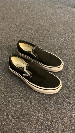 All black slip on Vans for Sale in Virginia Beach, VA
