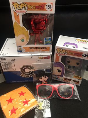 Hot Topic Dragon Ball Z funko Pop box with Vegeta for Sale in Las Vegas, NV