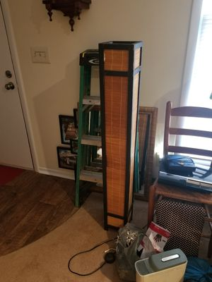 "Japanese Style Bamboo Floor Lamp, 6-3/4"" square x 49"" tall for Sale in Greensboro, NC"