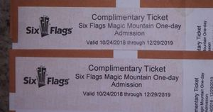 Six flags tickets for Sale in Chino, CA