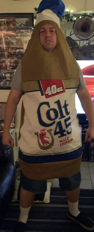 Like new Colt 45 malt liquor costume in immaculate condition located off lake mead and jones area asking $20 for Sale in Las Vegas, NV