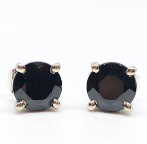 14k White Gold 1.50 CTW Round Brilliant Cut Genuine Black Diamond Stud Earrings for Sale in Smithsburg, MD