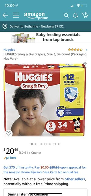 Huggies 12 hour protection diapers for Sale in Newberg, OR
