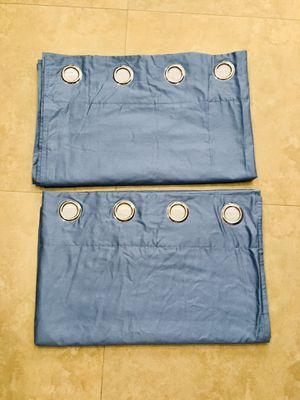 2 blue blackout curtains for Sale in Miami, FL