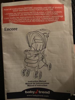 Encore baby trend stroller for Sale in Lewisville, TX