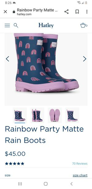 Brand New Hatley Rain Boots Size 6 for Sale in Des Moines, WA