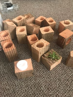 Barn wood votive holders, air plant planters, wedding favors for Sale in Seattle, WA