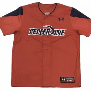 Pepperdine Waves Authentic Men's Medium M Under Armour Baseball Jersey Orange for Sale in San Diego, CA
