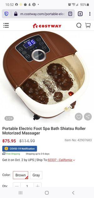 Portable Electric Foot Spa bath Shiatsu Roller Motorized Massager for Sale in West Covina, CA
