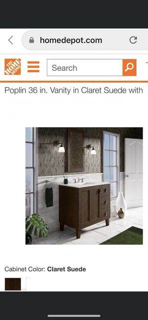 KOHLER 36in. Vanity Cabinet in Claret Suede Brand new Never been used For only $499 & for today only $299 Retail for $1641 for Sale in La Vergne, TN