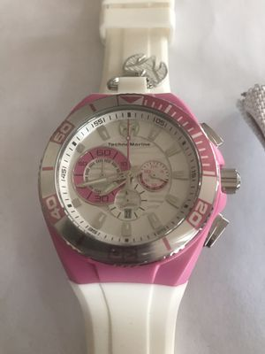 973633c8f1 TechnoMarine Locker Chronograph White and Pink Wrist Watch 112014 for Sale  in Miami
