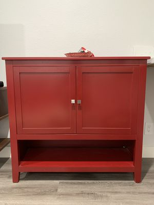 Red Garnett Server Table from Wayfair for Sale in Los Angeles, CA